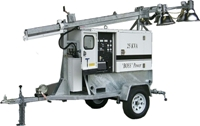 RNT: OF-BCMQ254MH-40′-1500w: 40′ Light Tower/25KVA, 45KVA Gen-set Packages, 4-1500W Floodlights, Power Distribution