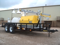 RNT: OF-BRVMQ254MH-40′-1500W: Oilfield Utility Light Tower, 20KW Gen-set, 300G Water & 150G Fuel Supply on 16′ Trailer