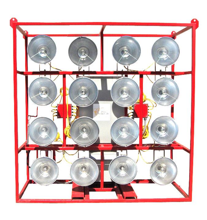 RNT: ECL-ELEC-16L-1000W: 16-1000w Metal Halide Floodlights, Electrical Stadium Cage Lights: 480v, 3PH System