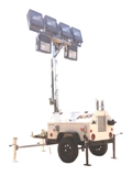 40 FOOT PORTABLE DIVISION 2 HAZARDOUS RATED LIGHT TOWERS.  RNT: HLT-BTK106MH-HL-1000W: Hazardous Design Light Tower: 6 Lights, 30′ Tower, 10KW Diesel, Trailer Mounted, UL Rated Electrical