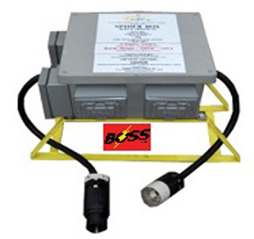 PORTABLE SPIDER ELECTRICAL GROUND FAULT BOX. 6 x 120v GFCI duplex outlets