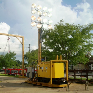 80 Foot Portable Strip Mining Stadium Light Towers 16 1500w