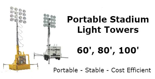100 foot high mast stadium light tower