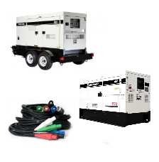 Diesel Generator Sets Temporary Power Electrical Distribution