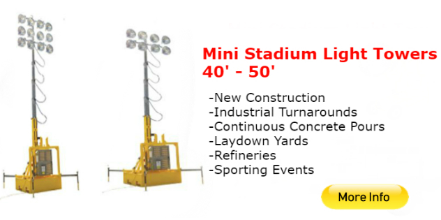 Boss LTR Stadium Light Towers Rentals | Confined Space