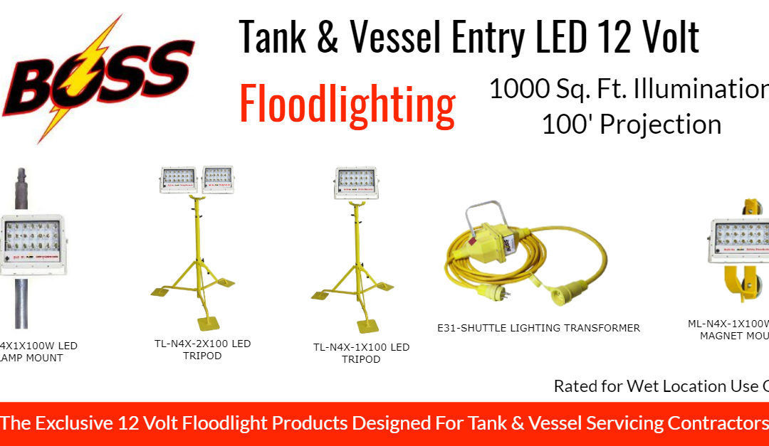 Boss Releases Exclusive LED Floodlighting for Tank and Vessel Applications
